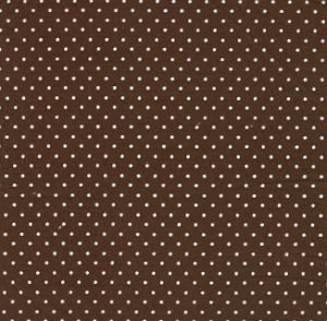Fabric Finders Brown with White Dots Twill