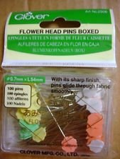 Flower Head Pin Assorted Colors  sz 32 2in 100 ct