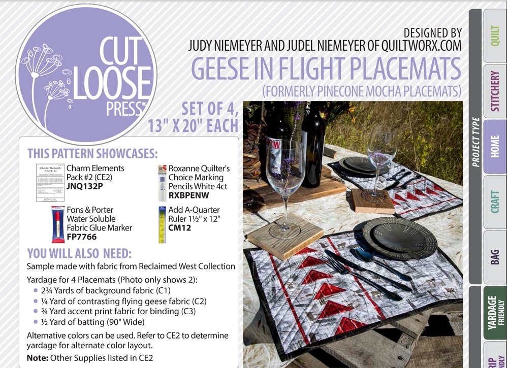 Geese In Flight Placemats (Formerly Pinecone Mocha Placemats)