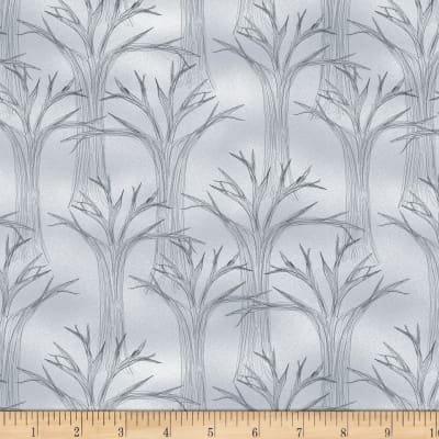 Spooky Vibes Gray Trees