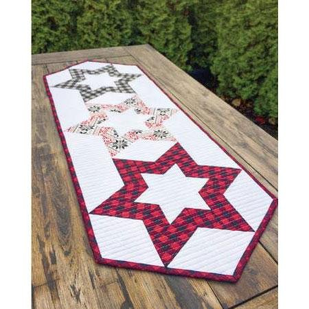 Hollow Star Table Runner by Cut Loose Press