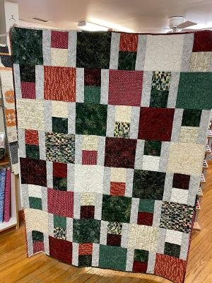 Home for the Holiday 52x70 Batik Quilt
