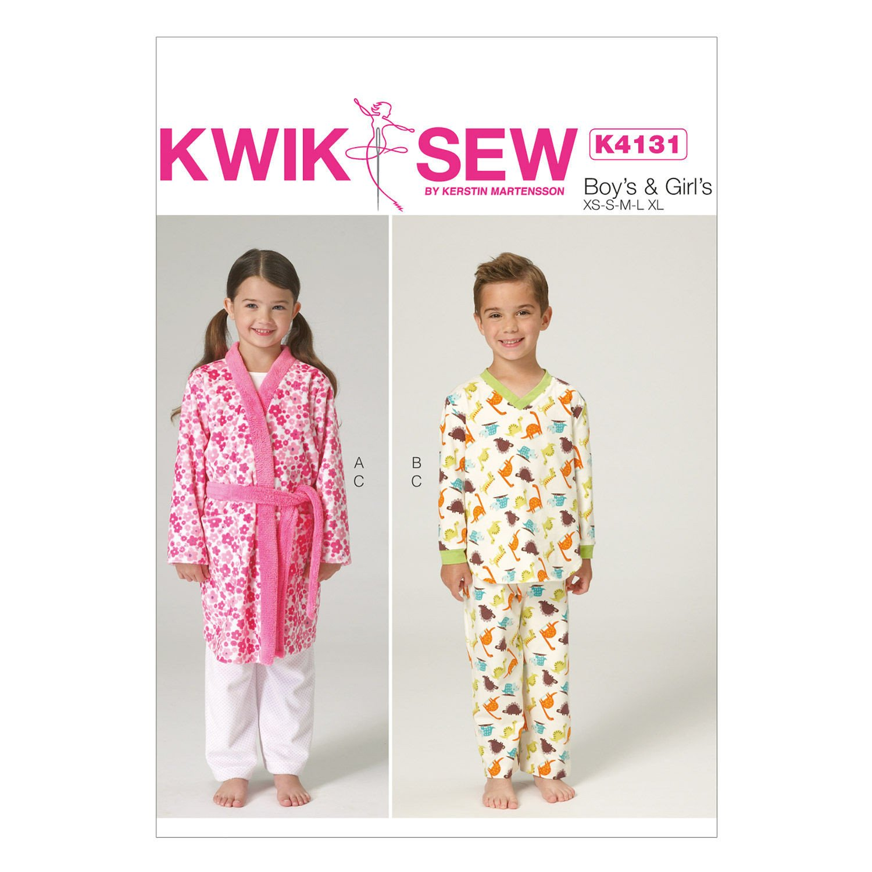 Kwik Sew/K4131 Boy's & Girl's Robe and Pajamas