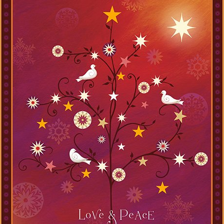 Love & Peace 36 Panel 1649-24471-R/Quilting Treasures/