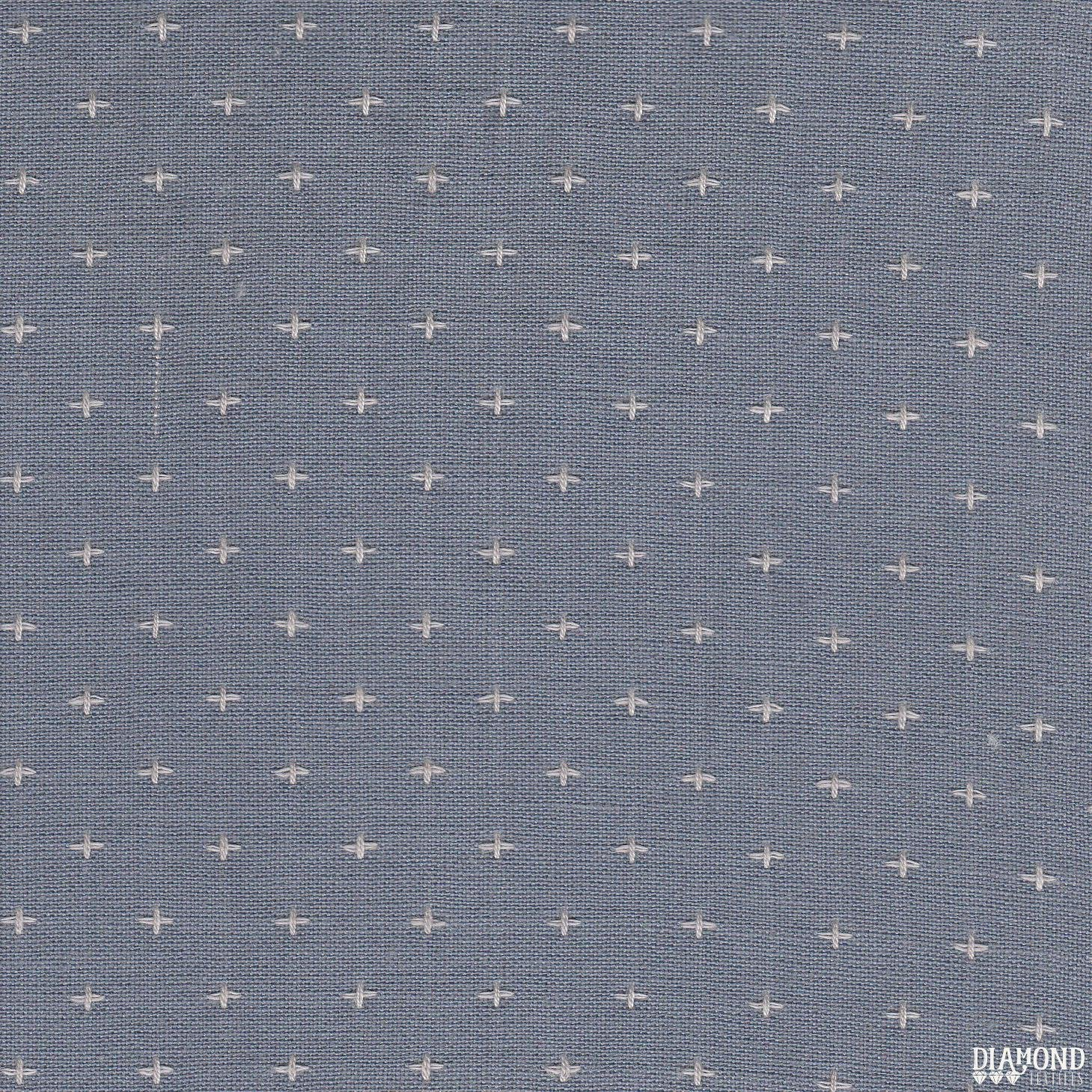 Diamond Textiles/Manchester 3145/Purplish blue with cream stitching