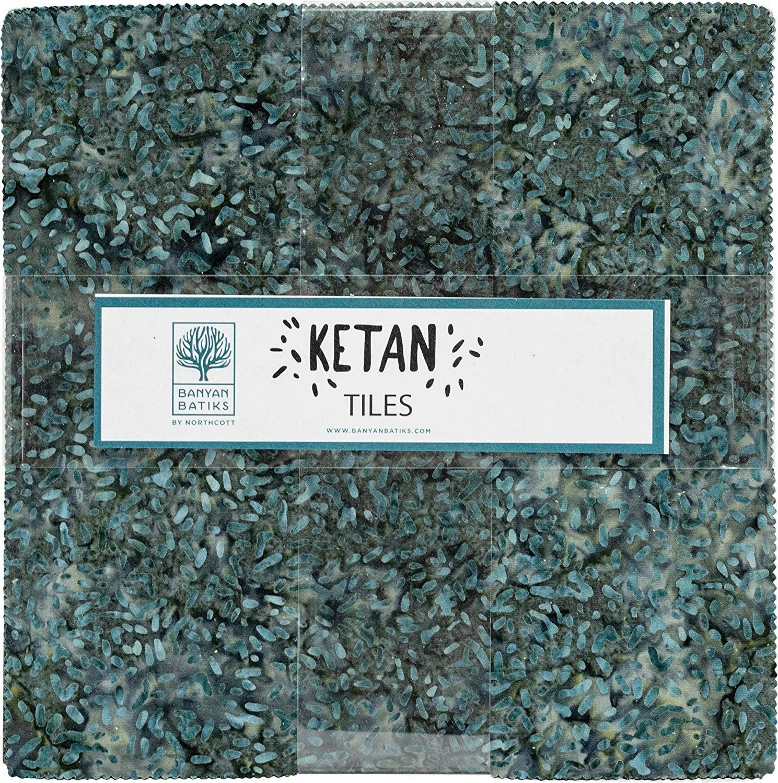 Ketan Mint Mocha Banyan Batiks 10 Tile Pack