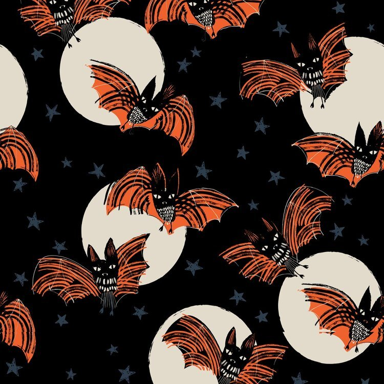 Full Moon Bats by Helen Black for Dashwood Studio