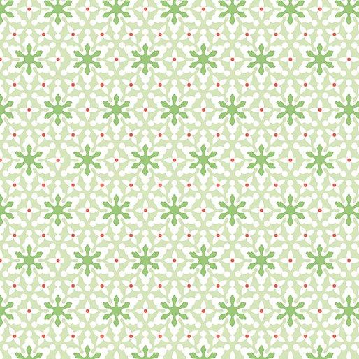 Benartex Nordic Holiday 1884 04 Small Snowflakes Lt. Green