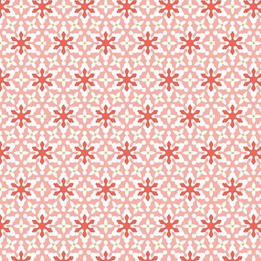 Benartex Nordic Holiday 1884 26 Small Snowflakes Pink
