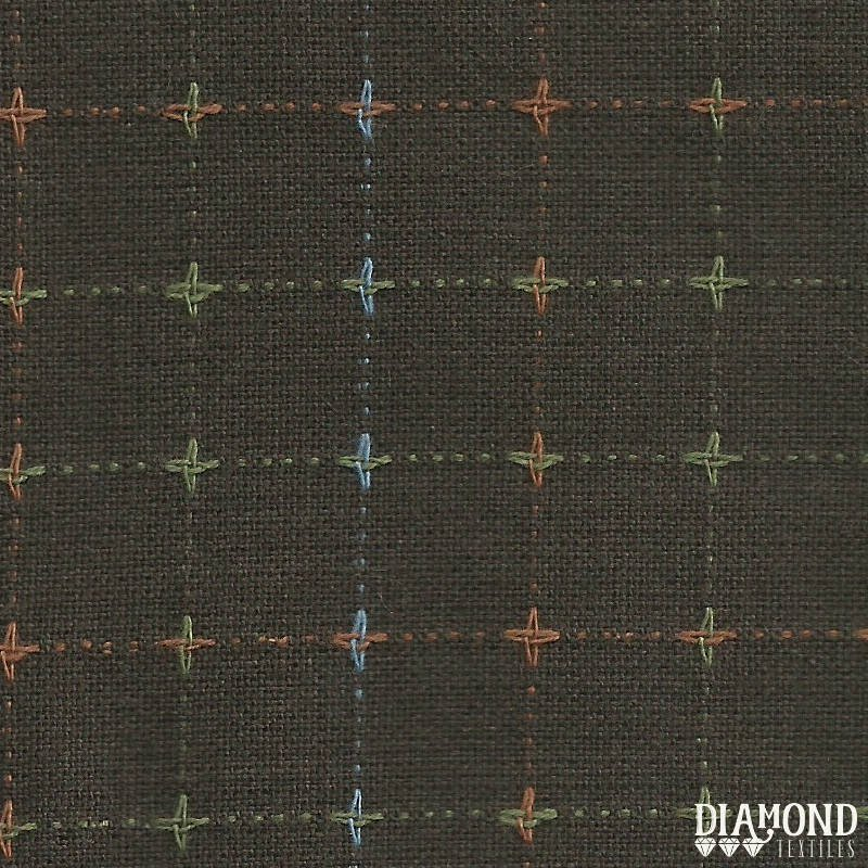 Diamond Textiles/Nikko 3780/Brown cross-stitch