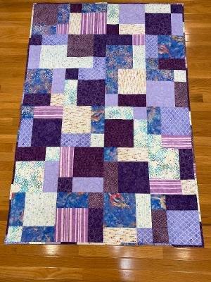 Passionate Purple Quilt 44x 64