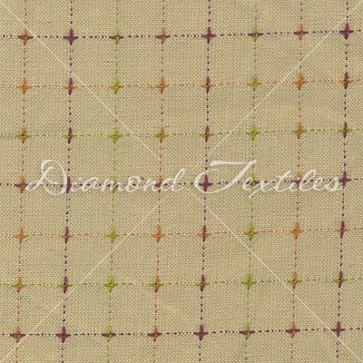 Diamond Textiles/Woven Elements PRF 763/Tan with x's