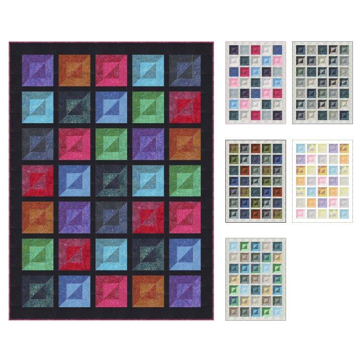 Bevelled Cubes Quilt Pattern