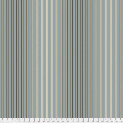 Free Spirit Kelmscott Gilt Stripe Blue PWWM007