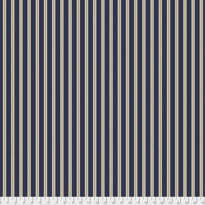Free Spirit Kelmscott Gilt Stripe Navy PWWM007