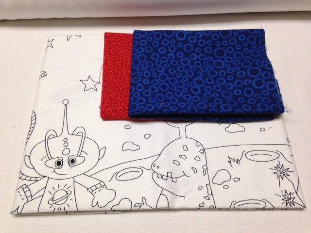 Space Coloring Book Pillowcase Kit