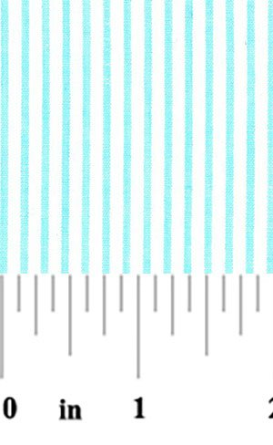 Seersucker S29  Aqua Blue Striped Fabric Finders