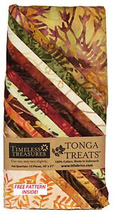 TT Tonga Treats - Autum - Fat Quarters w/pattern