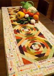 Eat Your Veggies Table Runner from Cut Loose Press
