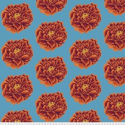 Kaffe Fassett 108 Quilt Backs Full Bloom Red for Free Spirit