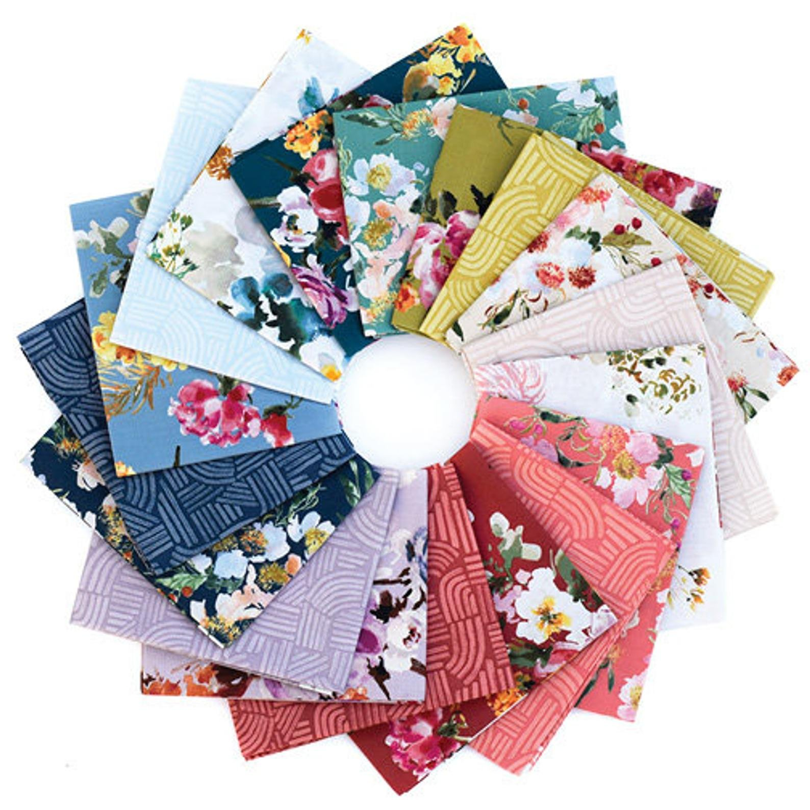 Wildflower Fat Quarter Bundle of 18 FQ for Windham Fabrics