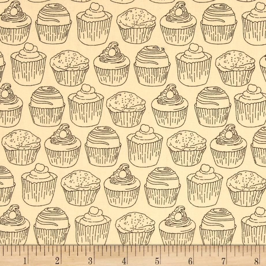 Cupcake Toile/Cream: Love at First Bite