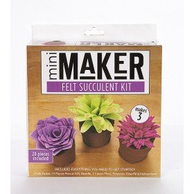 Felt Succulent Kit/Blue (Mini Maker by Leisure Arts) -