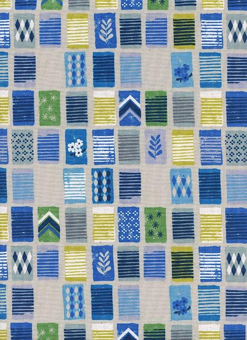 Towels/Blue Unbleached White Pigment: Poolside (Cotton + Steel)