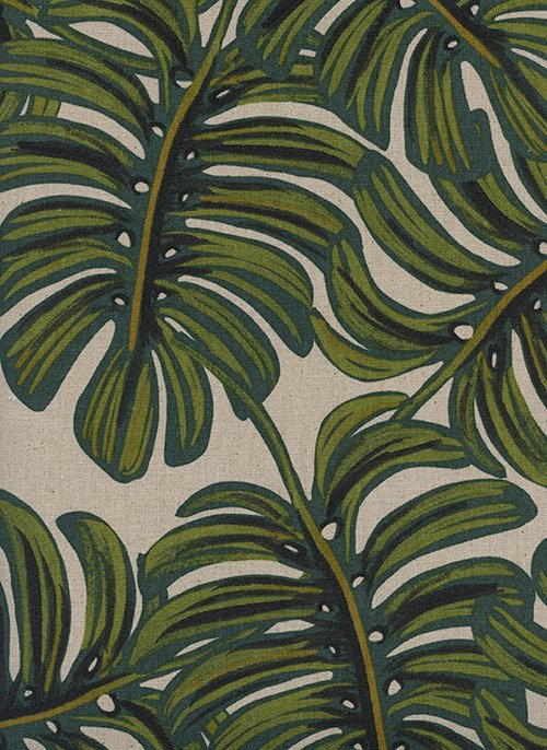 Monstera/Natural Canvas: Menagerie (Rifle Paper Co.)