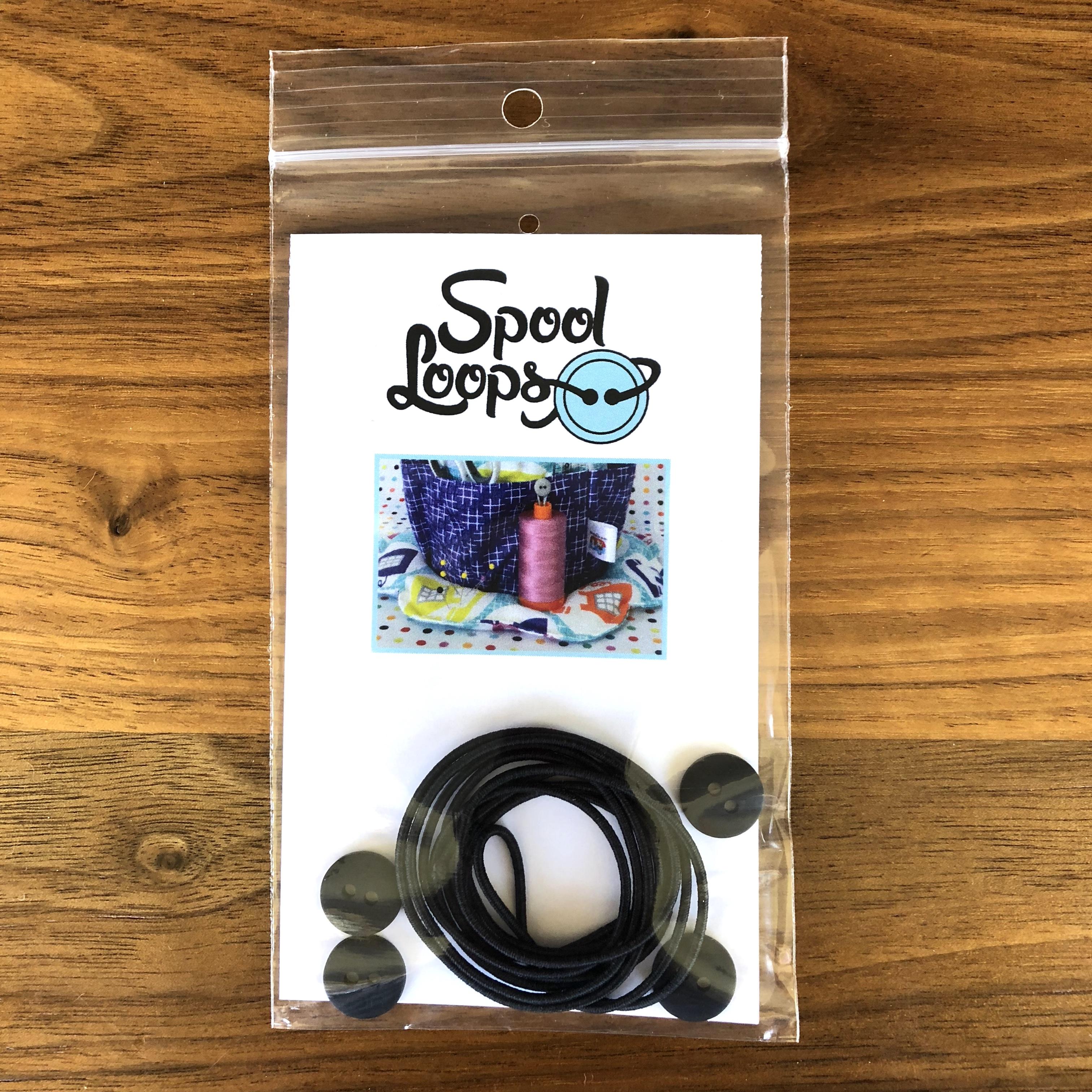 Spool Loops - Black (Fat Quarter Gypsy)