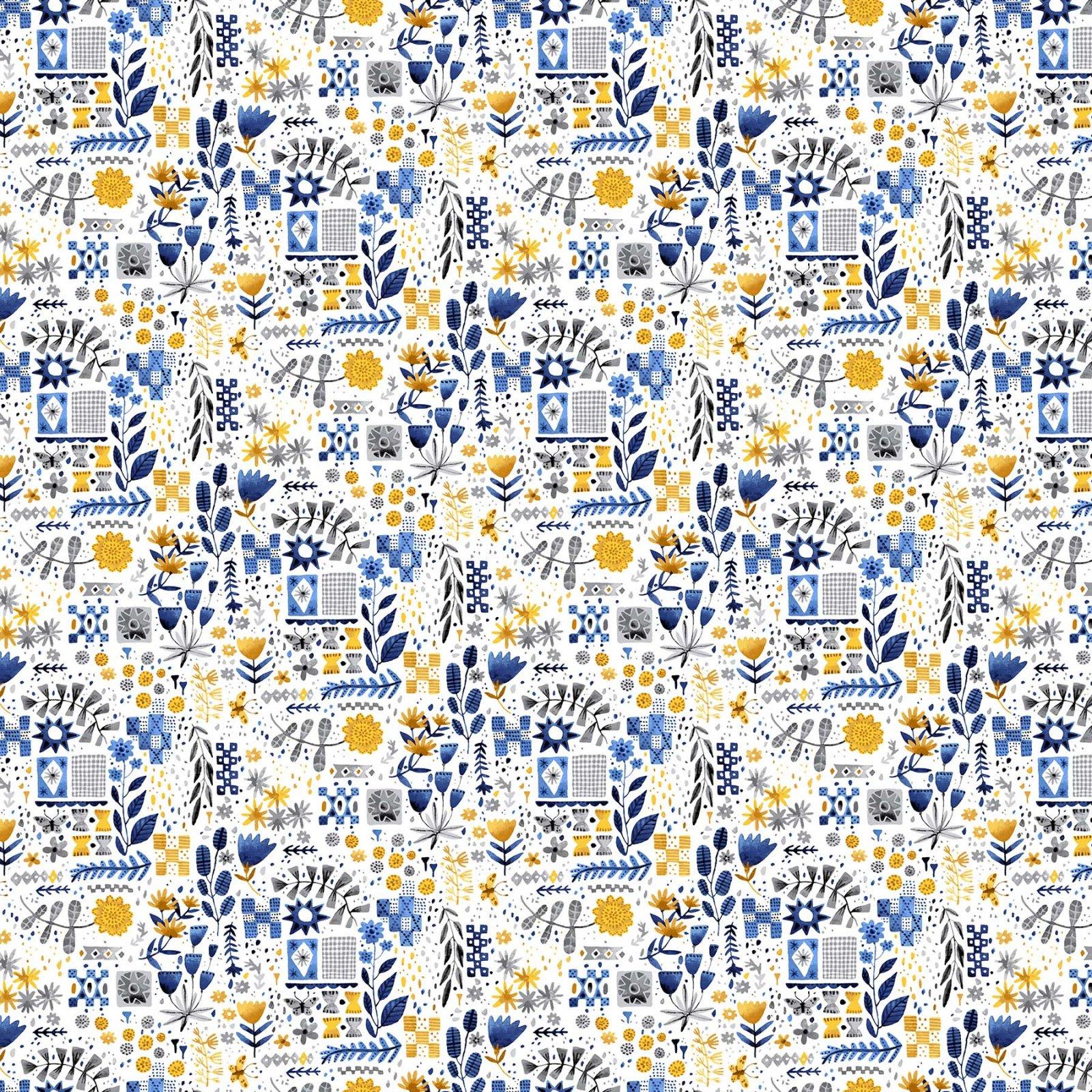 90031/52 Yellow White: Eloise's Garden (Abigail Halpin)