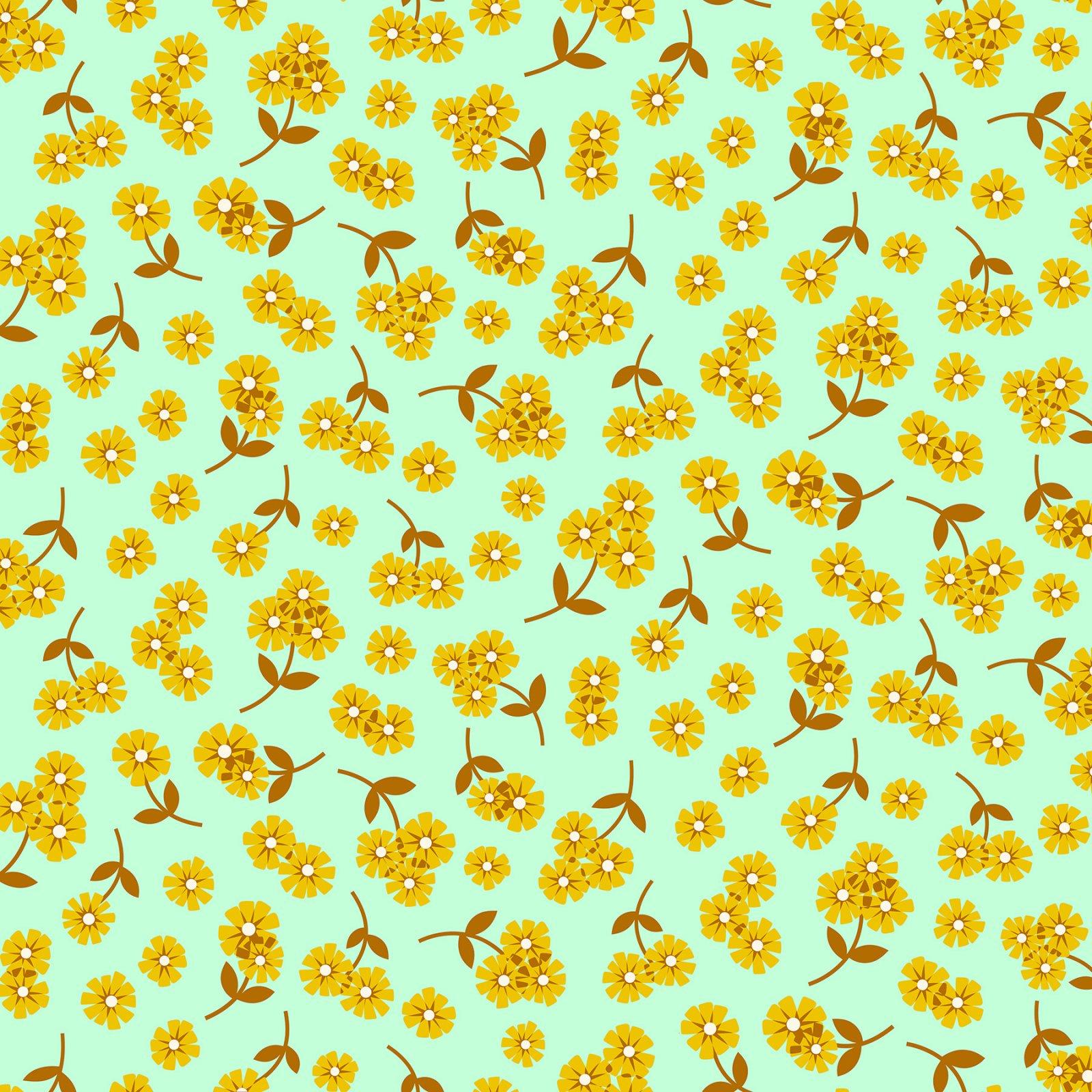 Daisies/Mint: Butterscotch (Figo)