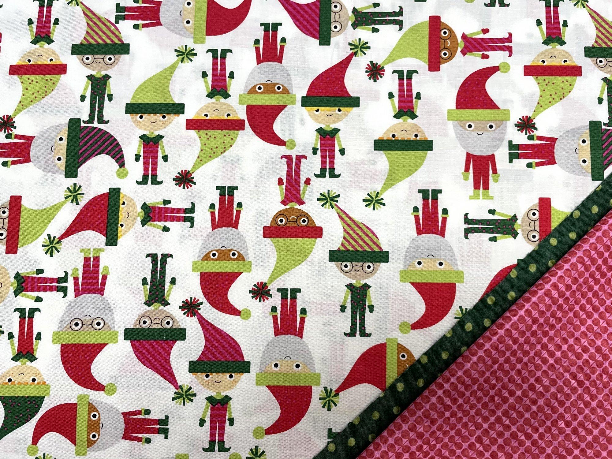 Pillowcase Kit (All Sizes)/Christmas Elves (Treelotta)