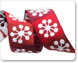 Big Snowflakes on Red - 7/8 (Sue Spargo)