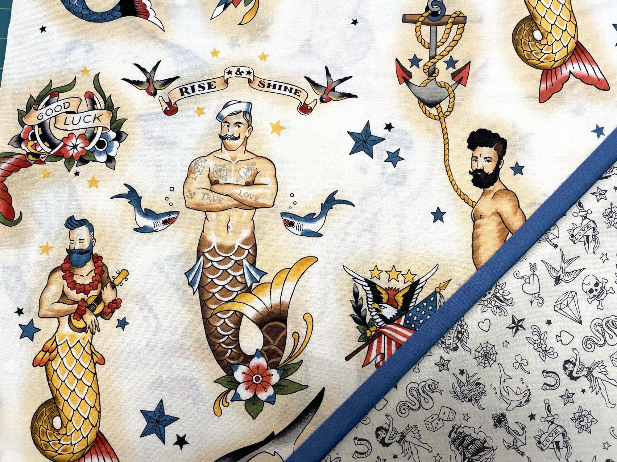 Pillowcase Kit (All Sizes)/Hey, Sailor (Treelotta)