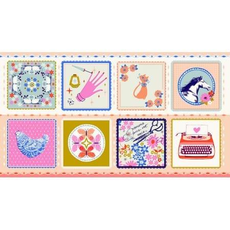 Hankie/Peach 24 Panel: Beauty Shop (Cotton+Steel)