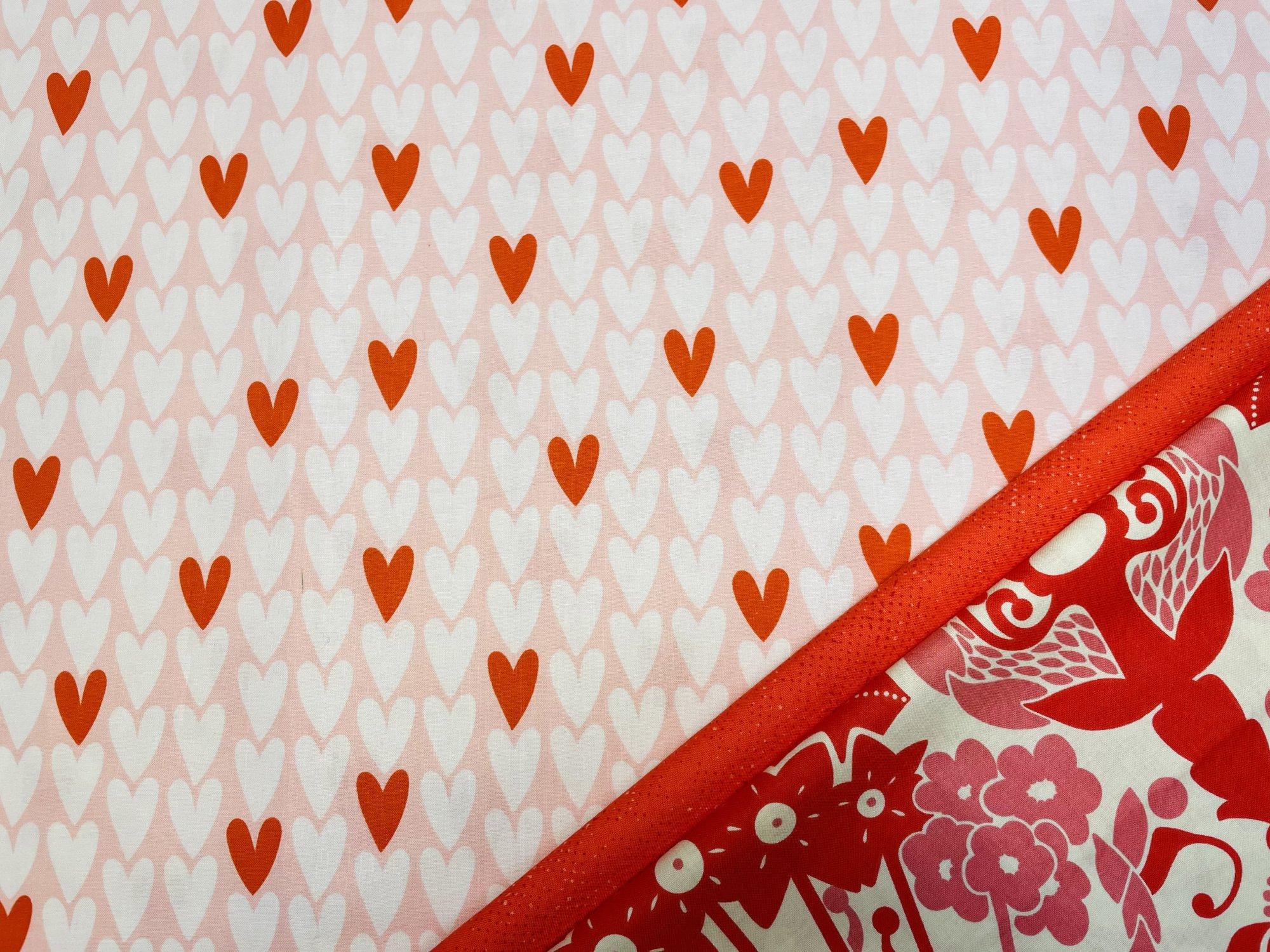Pillowcase Kit (All Sizes)/Pink Hearts (Treelotta)