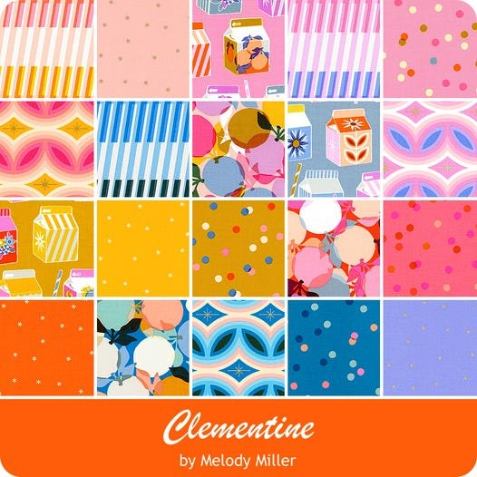 Clementine Junior Layer Cake/10 x 10  (10 x 10  20 pieces) (Melody Miller)