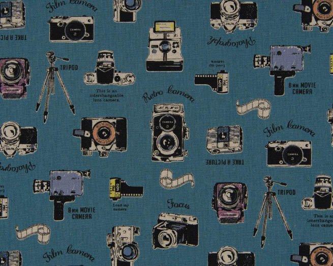 Smile Cotton/Linen Canvas/Blue (Cosmo)