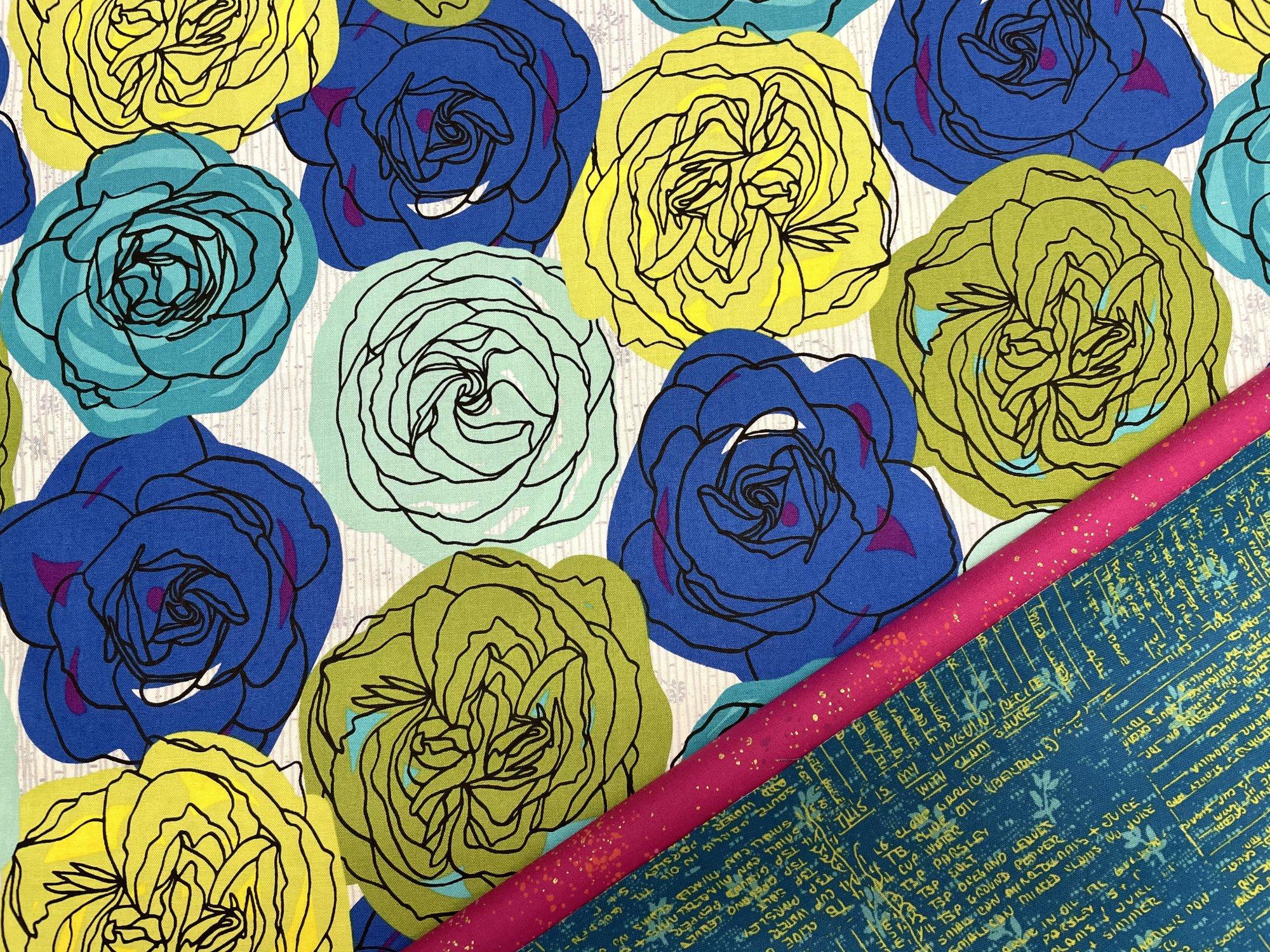 Pillowcase Kit (All Sizes)/Blue Green Floral (Treelotta)
