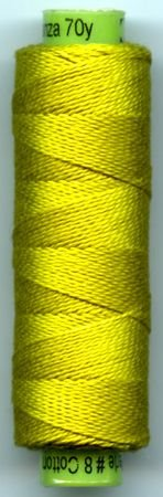 Eleganza #8 Perle Cotton/Call-a-treuse (70 yd)