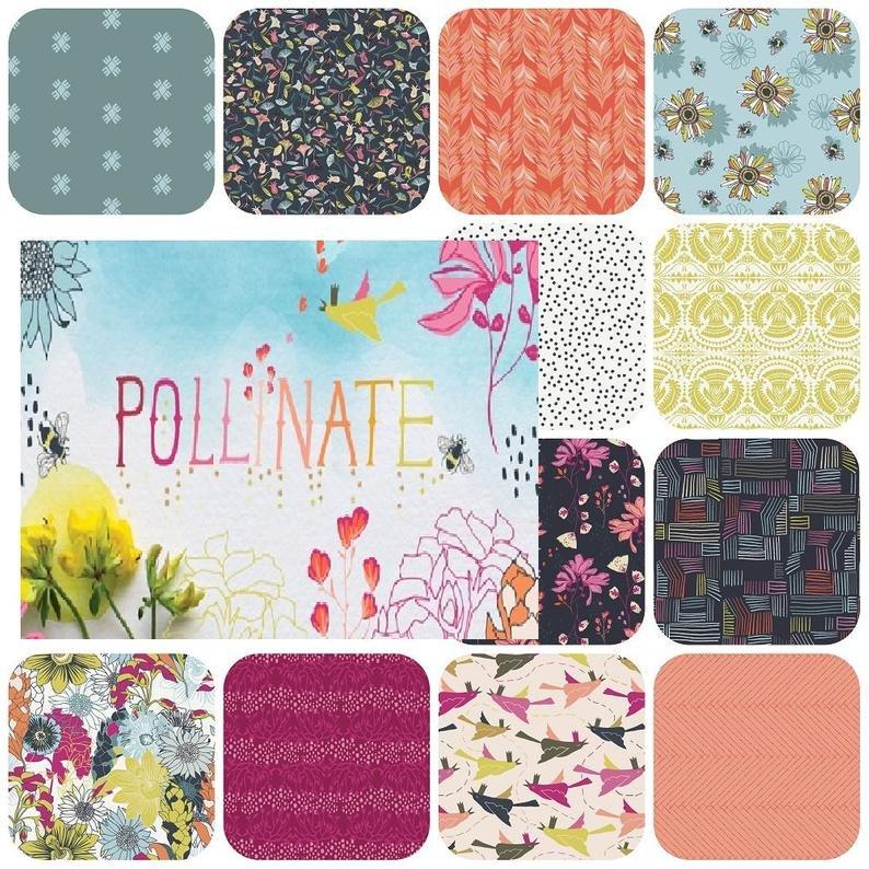 Fat Quarter Bundle (12 Pieces) Fabric Wonders/Pollinate: (Jessica Swift)