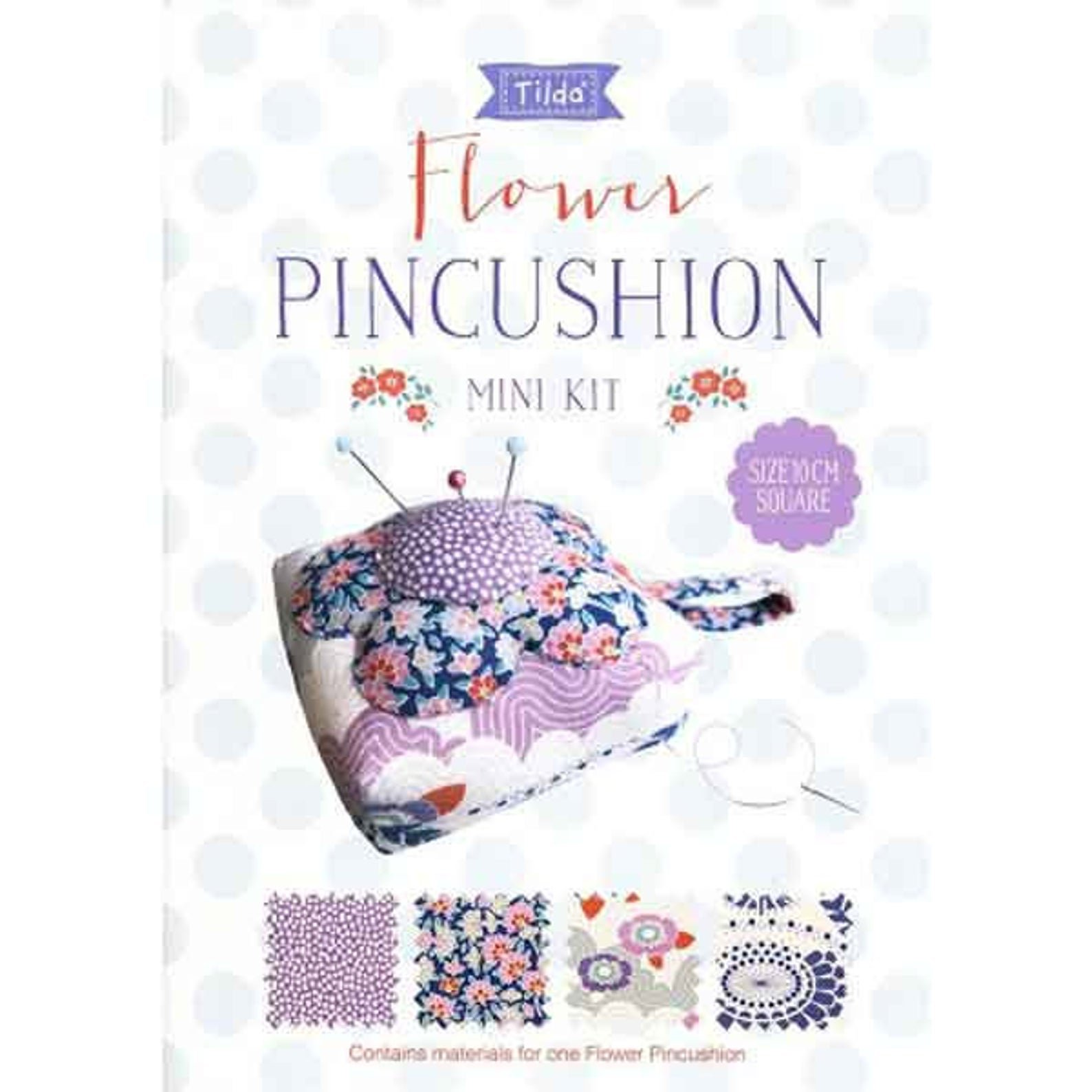 Flower Pincushion Mini Craft Kit (Tilda)