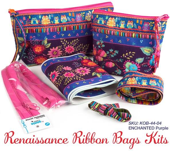 Renaissance Ribbon Bags Kit/Enchanted Purple (ByAnnie/Renaissance Ribbons)