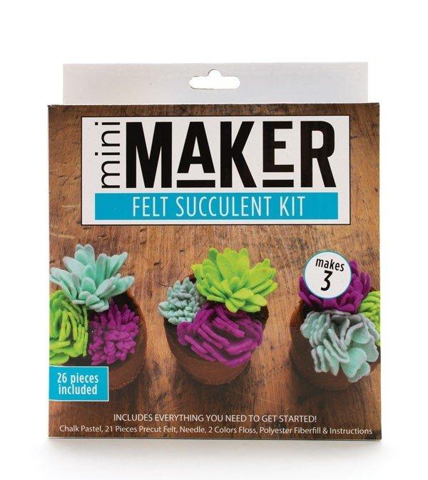 Felt Succulent Kit/Purple (Mini Maker by Leisure Arts) -
