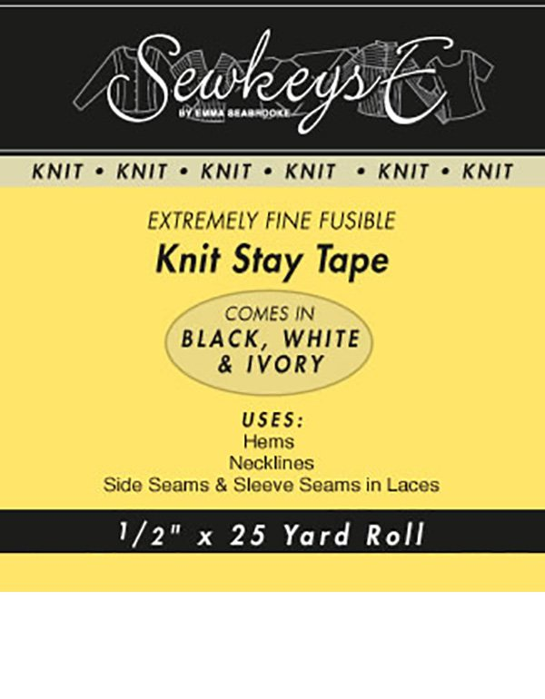 1 Knit Stay Tape - Black (SewkeysE)