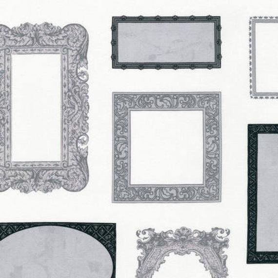 ASW-13918-12 Quilt Labels/Grey: Objects (24 Panel)