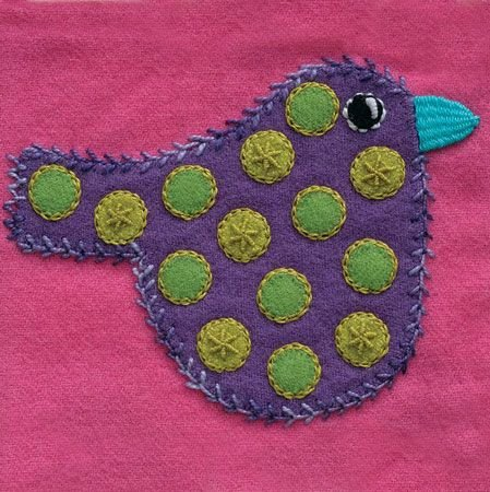Polka Dot Bird/Colorway 1 Complete Kit (includes all threads and needles) Sue Spargo