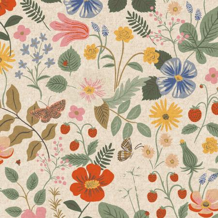 Strawberry Fields Linen Canvas/Unbleached (Rifle Paper Company