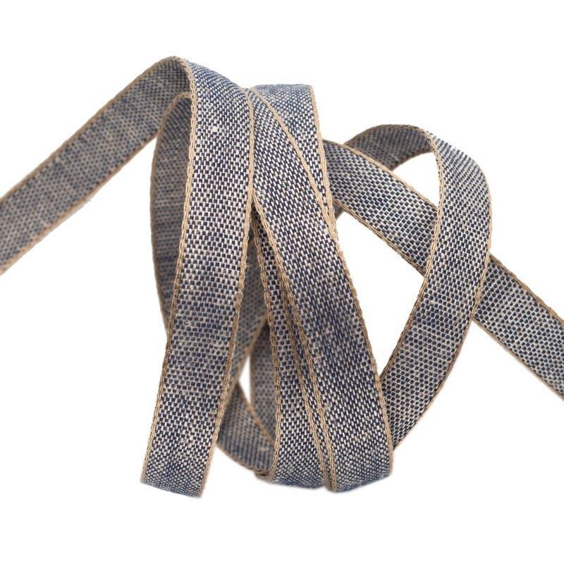 Cotton Linen/Navy (3/8 Ribbon)